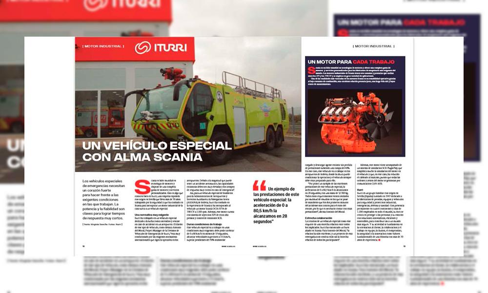 Scania dedica un reportaje al vehículo carrozado por ITURRI para AASANA Bolivia