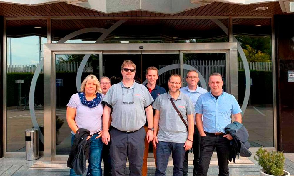 Compañeros de ITURRI Wilnsdorf visitan las instalaciones de Sevilla