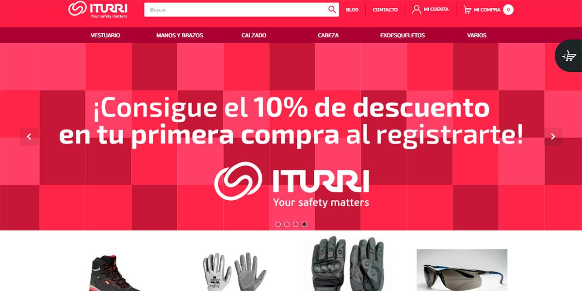 Shop.iturri.com, e-commerce especializado en EPI, seguridad, protección y uniformidad