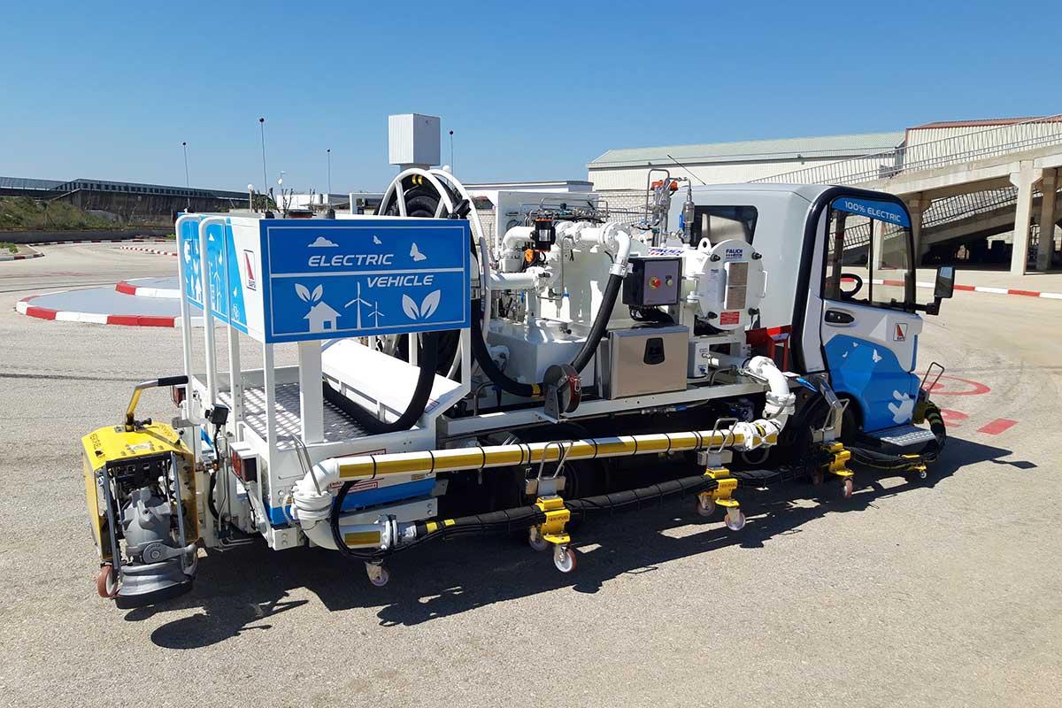 Nuevos vehículos e-Dispenser para los dos principales aeropuertos internacionales de Tailandia
